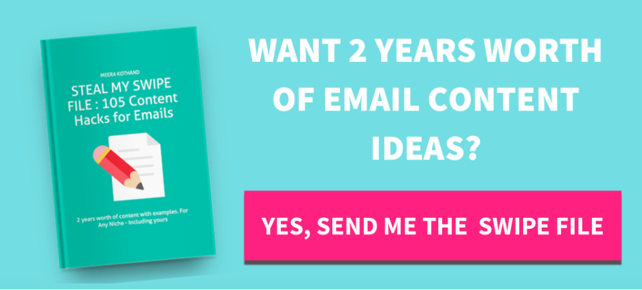 Steal My Swipe File: 105 Content Hacks for Emails