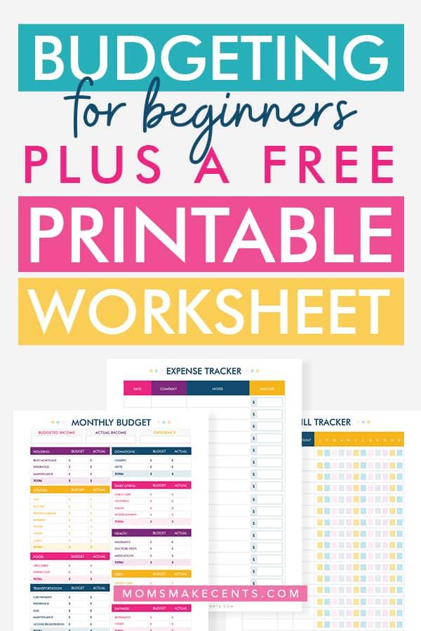 how to make a budget   free printable budget template