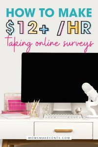survey junkie review text with desktop computer