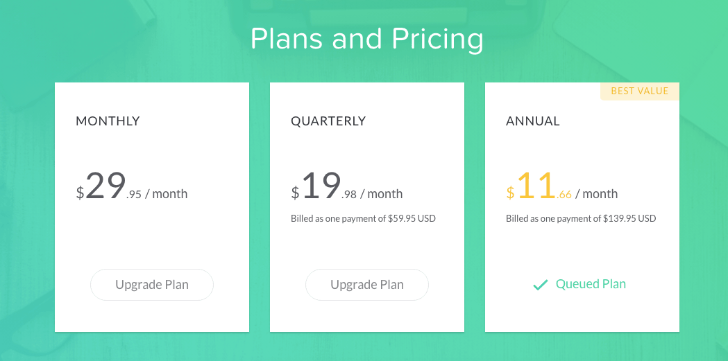 screenshot of grammarly pricing for grammarly review