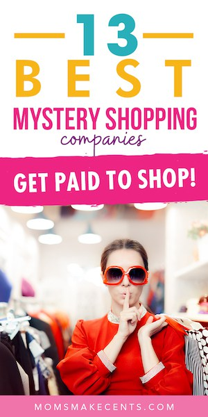 woman wearing sunglasses shopping with the text the best mystery shopping companies