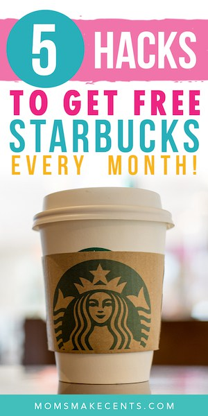 A cup of starbucks coffee with text about how to get free starbucks