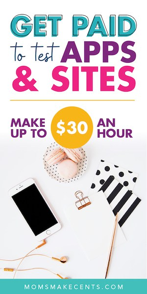 social media graphic about how to test apps and websites with a flat lay stock photo with smart phone