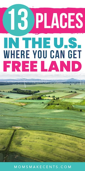 picture ofrolling green hills with the text free land for homesteading