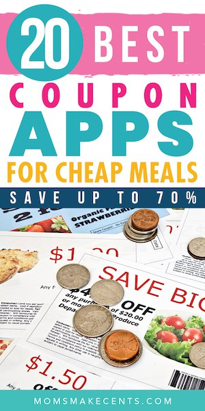 coupons laid out on a table with the text best restaurant coupon apps