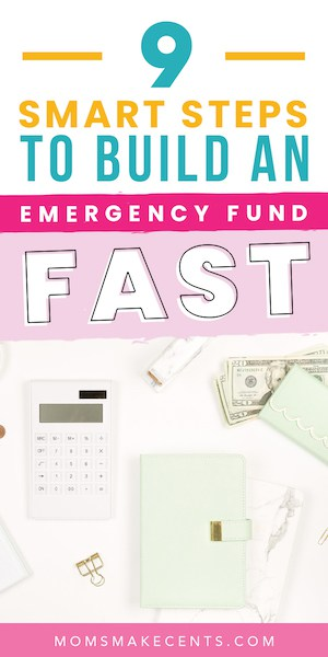 calculator on a desk with the text what is an emergency fund