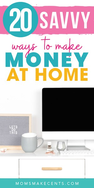 computer with on desk with the text how to make money at home