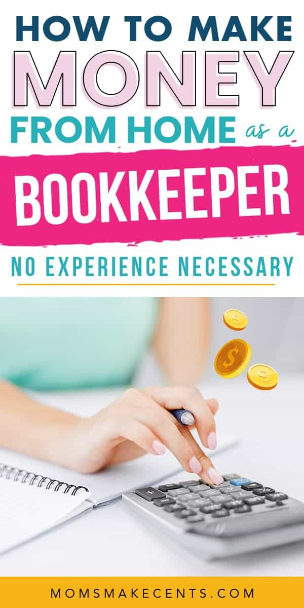 Woman working as a bookkeeper from home